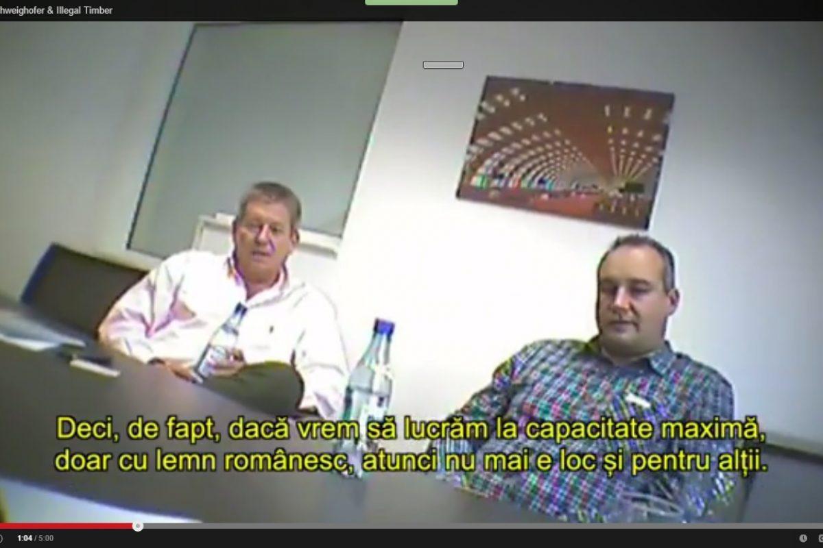 Cum a preluat Iohannis argumentele firmei Schweighofer în cererea de reexaminare a Codului Silvic (DOCUMENT) Și cum preia Schweighofer lemnul tăiat ilegal (VIDEO CU CAMERA ASCUNSĂ)