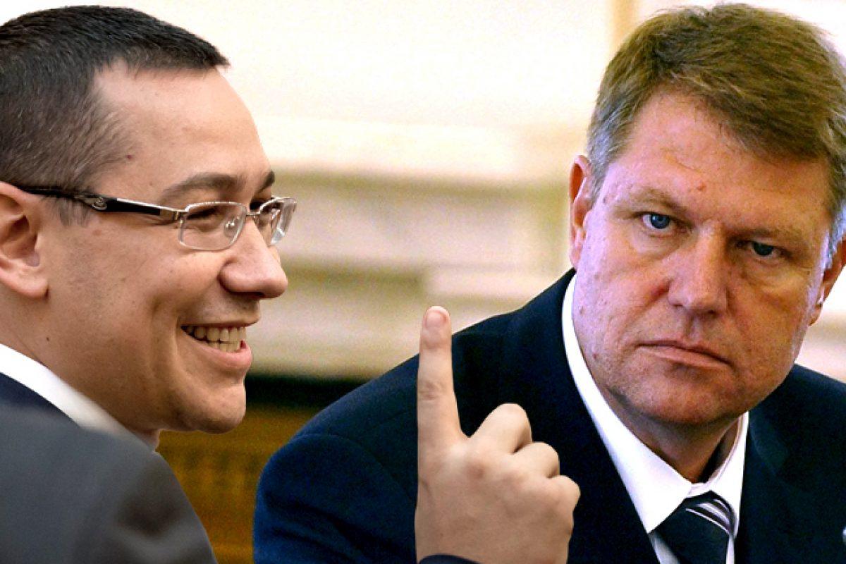 Încă un blat pentru clientelă între Klaus Iohannis şi Victor Ponta