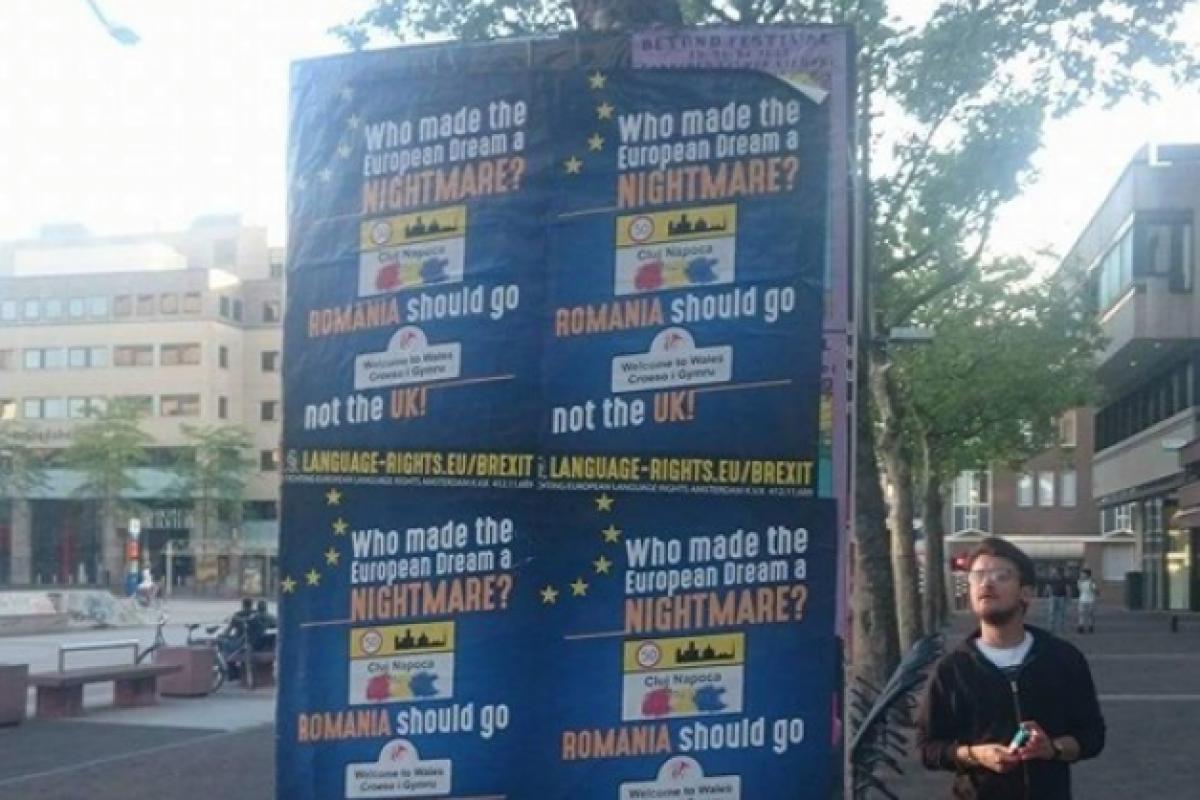 În Olanda au apărut afișe care susțin că România a transformat UE într-un coșmar