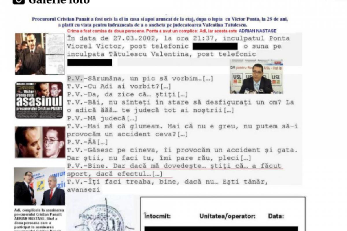 COMISARUL îi acuză pe Victor Ponta şi Adrian Năstase de CRIMĂ! Document senzaţional!!!